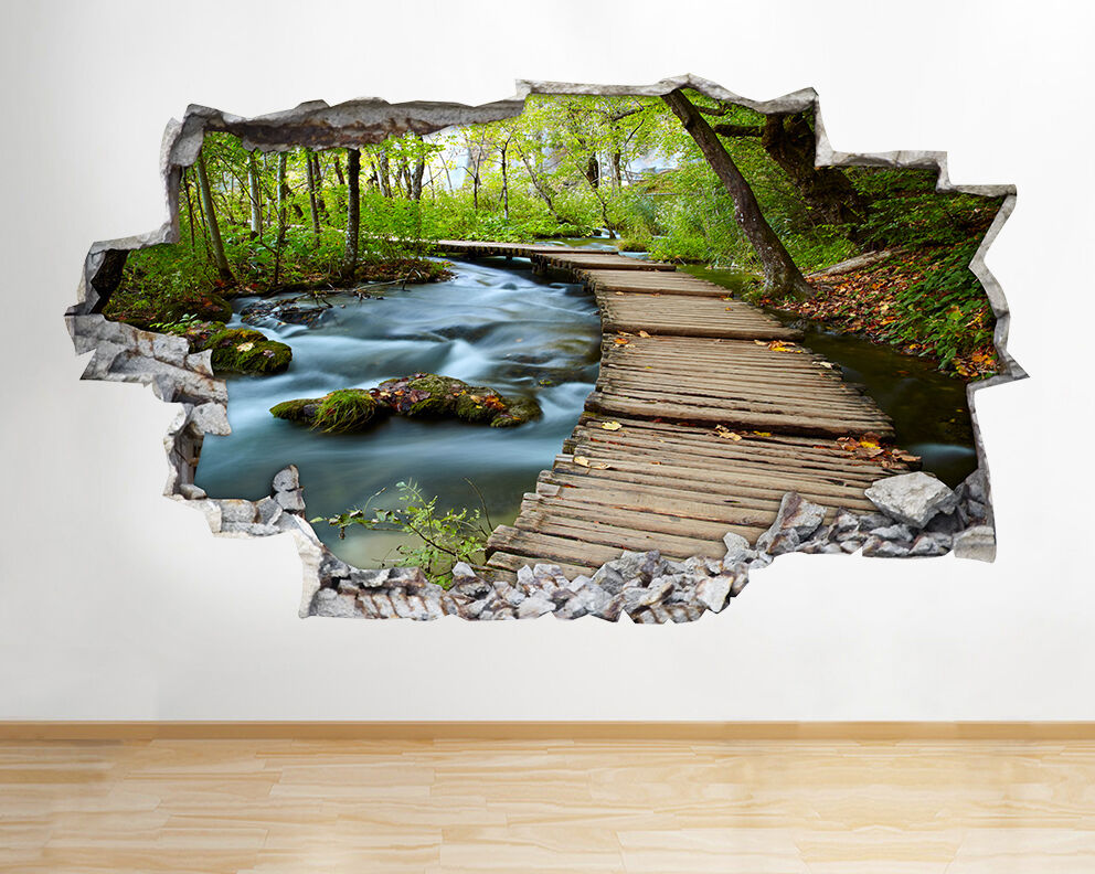 Lake Forest Nature Beautiful Scene Living Room Wall Decal ...