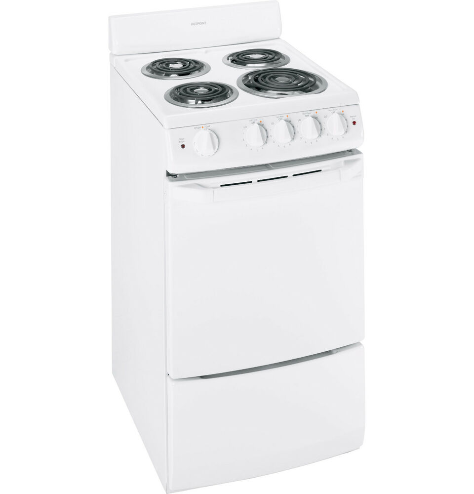 hotpoint small apartment size 20 freestanding white electric range