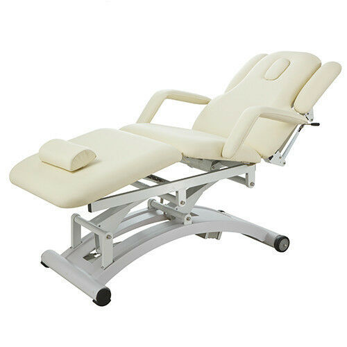 Harmon electric adjustable facial massage treatment chair for Table bed chair