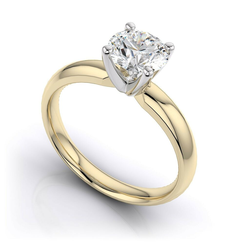 0 5 ct tcw 14k yellow gold solitaire bridal