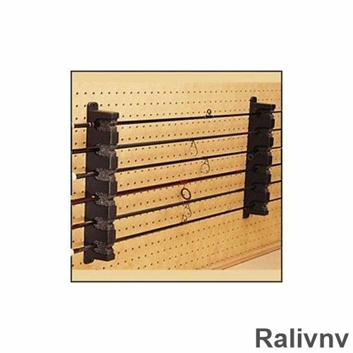 Horizontal boat 6 rod rack fishing pole organize storage for Horizontal fishing rod rack