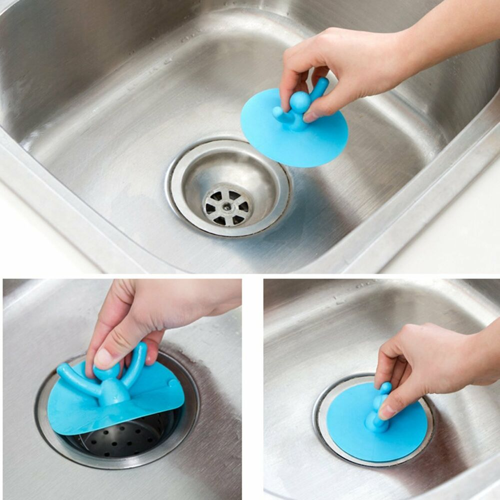 rubber kitchen sink stopper silicone drain cover kitchen water sink drainer strainer 4937