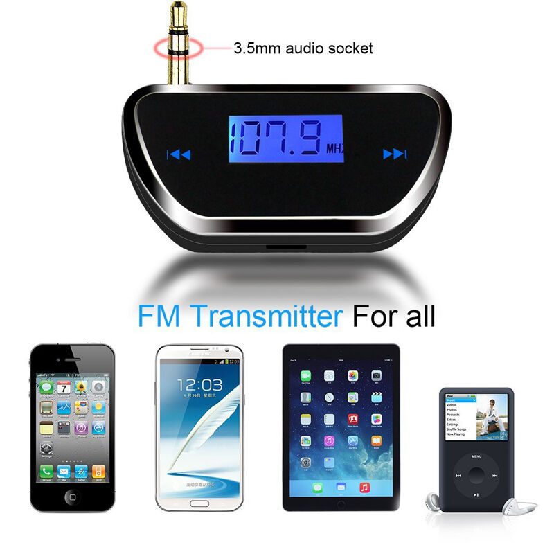 universal audio car transmitter fm radio adapter for. Black Bedroom Furniture Sets. Home Design Ideas