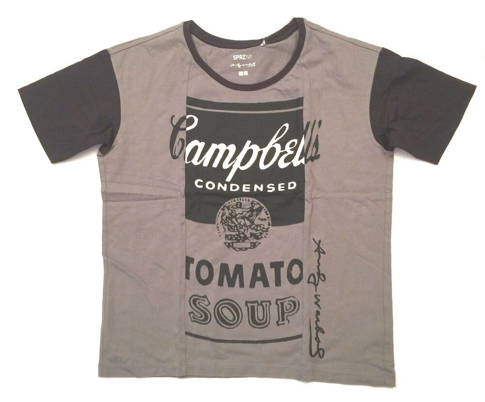 Uniqlo women 39 s sprz moma andy warhol campbell soup t shirt for Uniqlo t shirt sizing