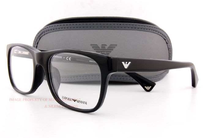 8190f320b4c Brand New EMPORIO ARMANI Eyeglass Frames 3056 5017 Black for Men Size 54