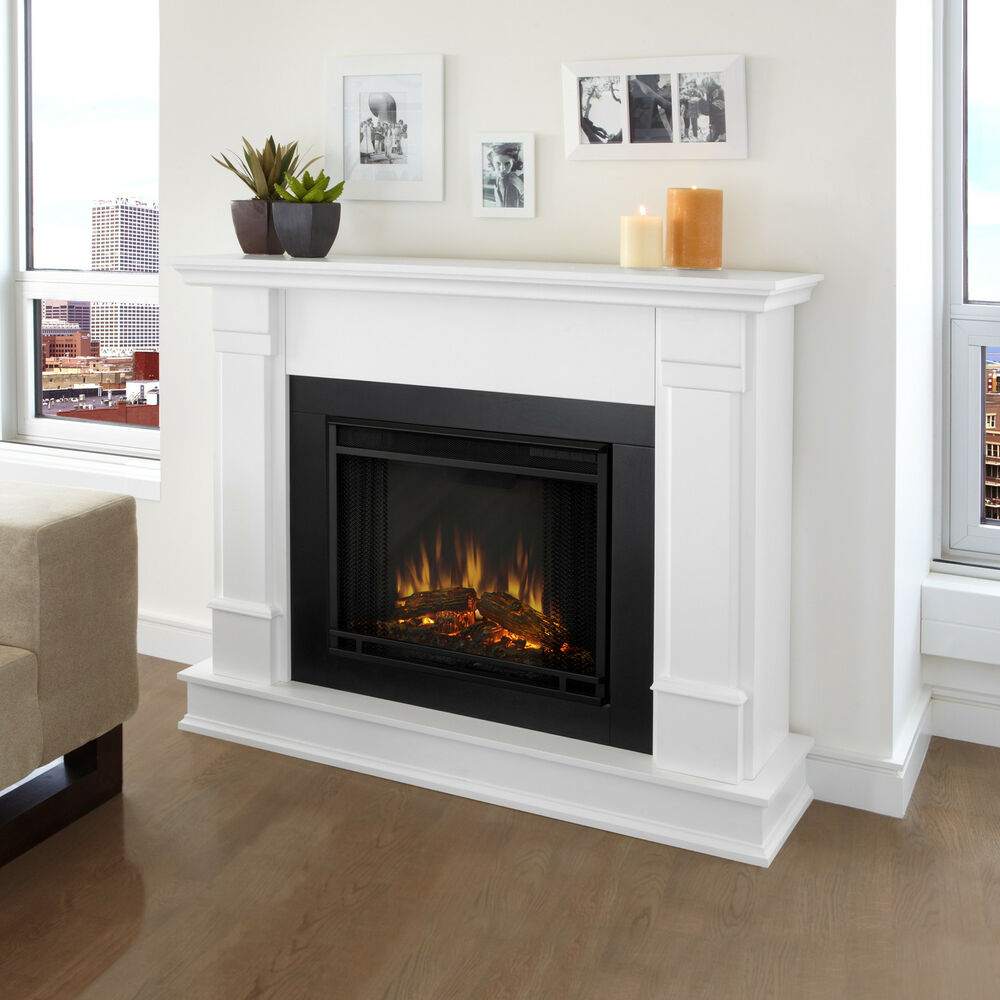 Real Flame Silverton White Electric 48 Inch Fireplace Ebay