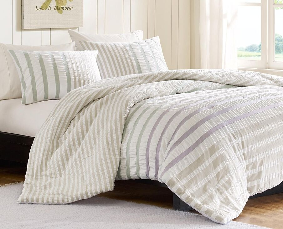 Multi Striped Full Queen Comforter Set Sutton