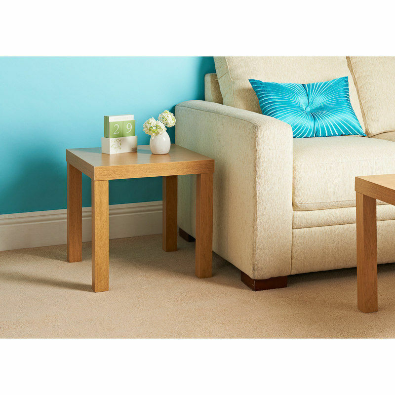 Modern oak effect wooden coffee tea side table bedroom for Bedroom coffee table