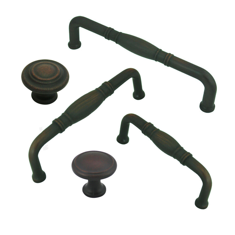 Cosmas Oil Rubbed Bronze Cabinet Hardware Knobs, Pulls