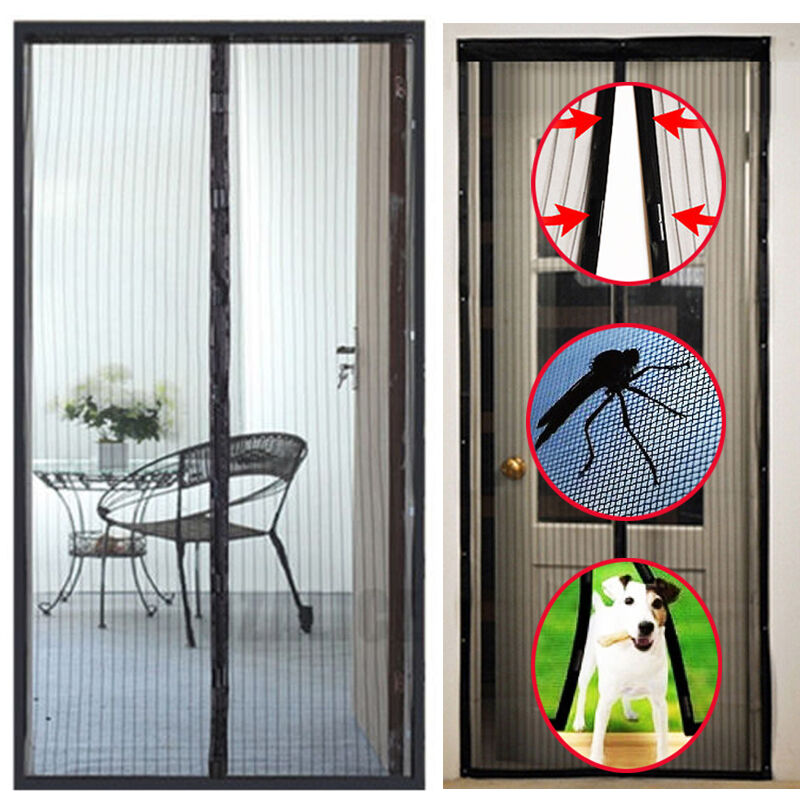 Anti Insect Mesh Screen Net Door With Magnets Prevent