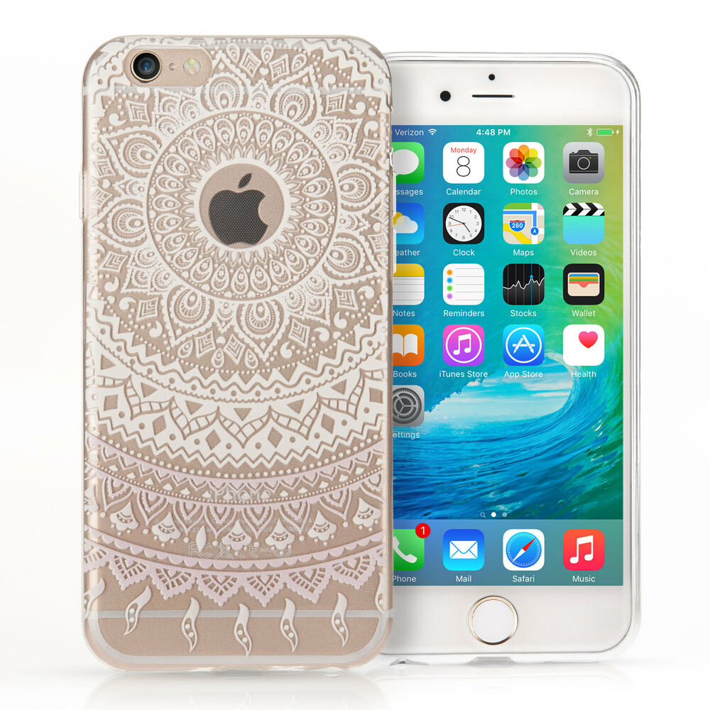 accessories for iphone 6 plus yousave accessories mandala pattern tpu gel phone 6097
