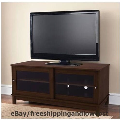 living room tv stands furniture cherry 55 quot tv stand modern entertament center 12601
