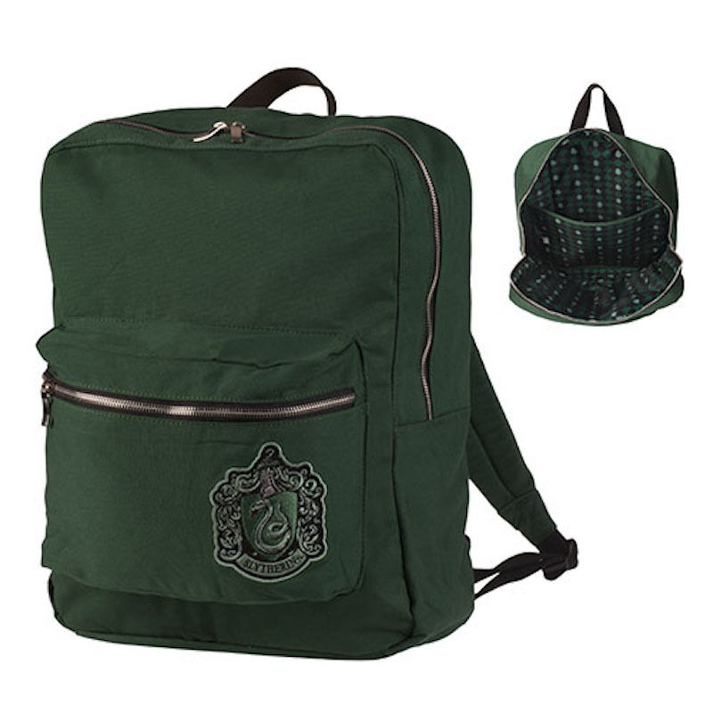 universal studios harry potter crest slytherin backpack. Black Bedroom Furniture Sets. Home Design Ideas