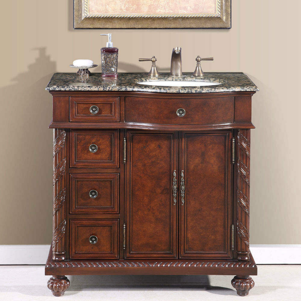 36 inch single bathroom vanity off center right sink stone top cabinet 0213bb ebay