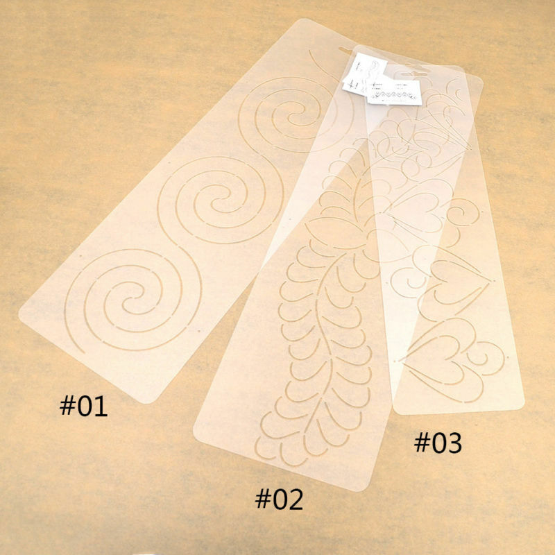 How To Use Plastic Quilting Templates : Plastic Clear Quilting Stencil Template for Craft Stitch Sewing DIY Art Craft eBay