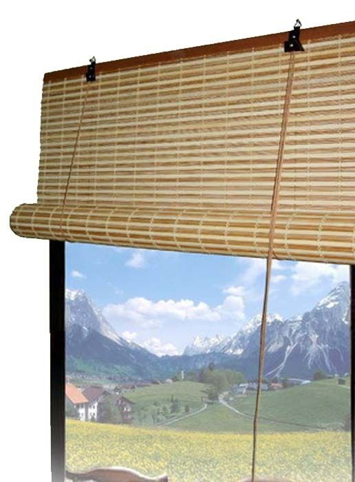 bamboo roll up window blinds 3 sizes available ebay. Black Bedroom Furniture Sets. Home Design Ideas