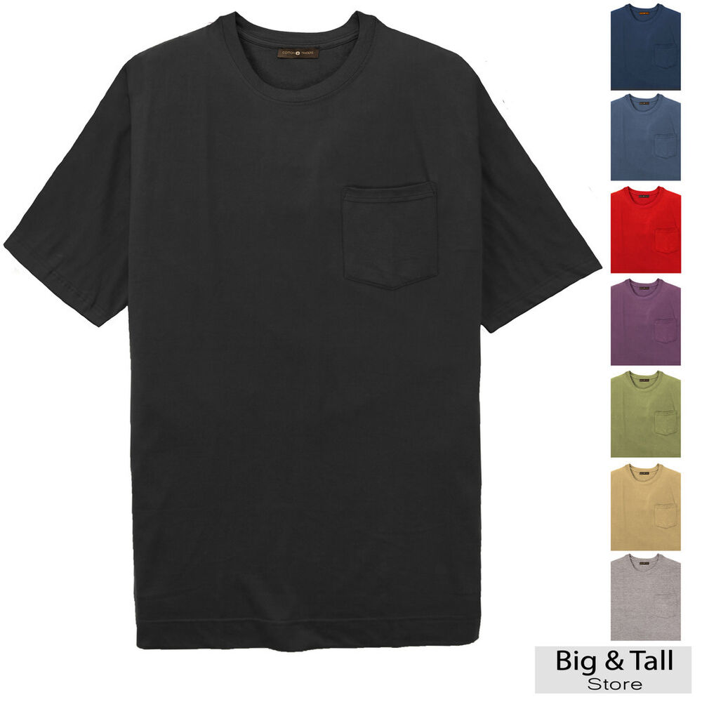 Big tall men 39 s quality pocket t shirt by cotton traders for Big and tall rock t shirts