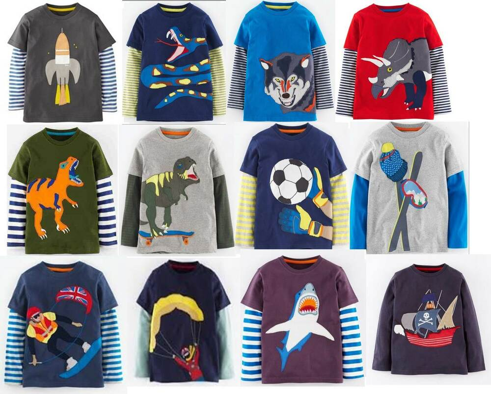Mini boden boys applique top shirt 18 styles 1 12 years for Mini boden england