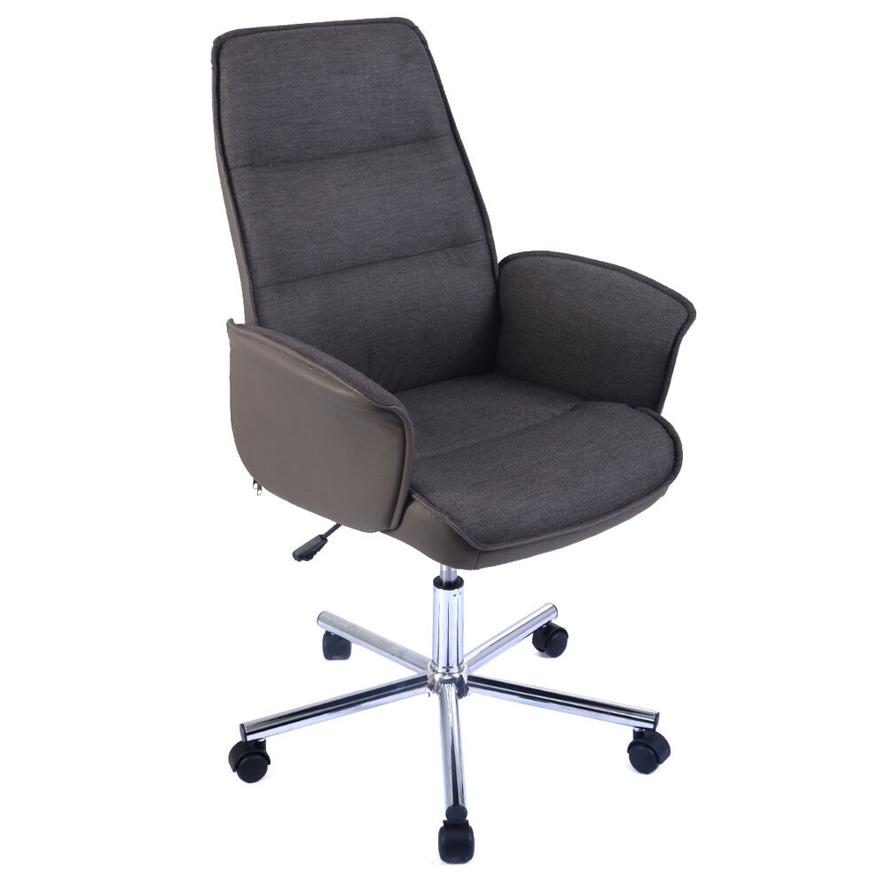 brown adjustable accent office chair computer desk task