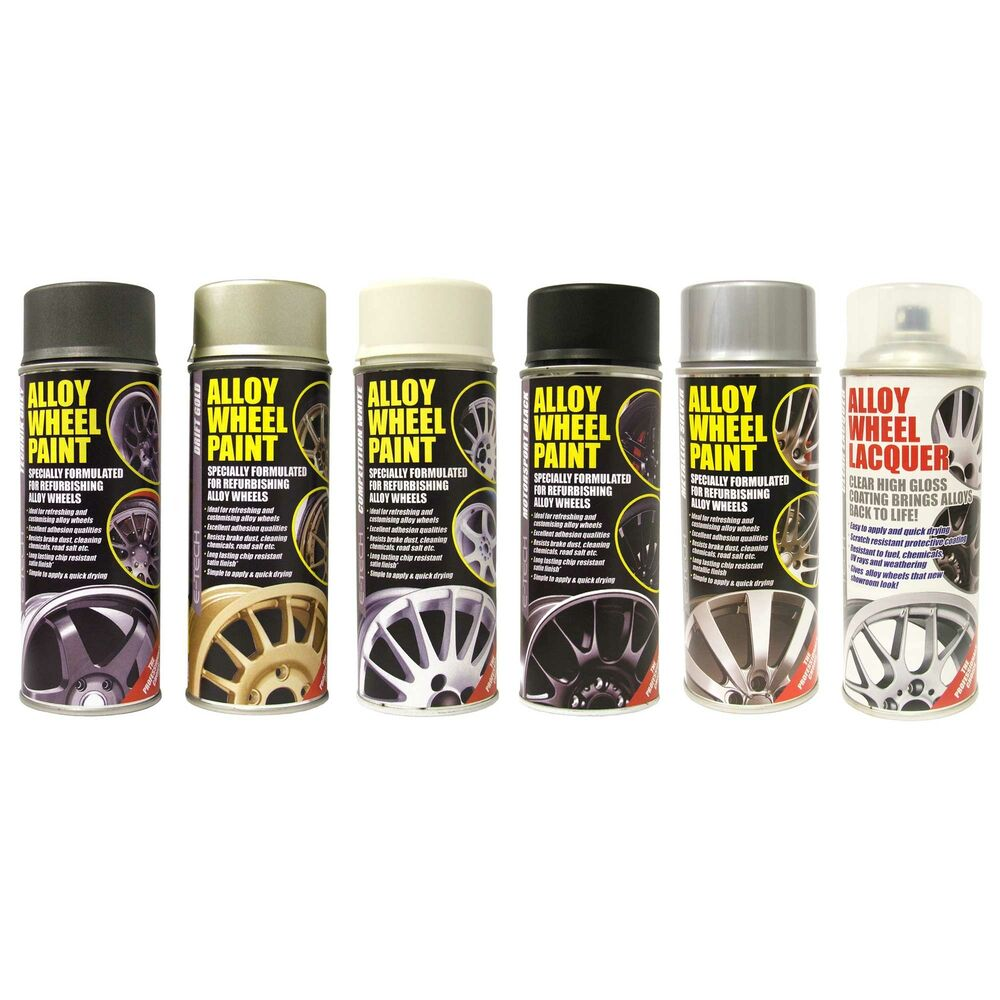 e tech engineering 400ml alloy wheel spray paint in. Black Bedroom Furniture Sets. Home Design Ideas