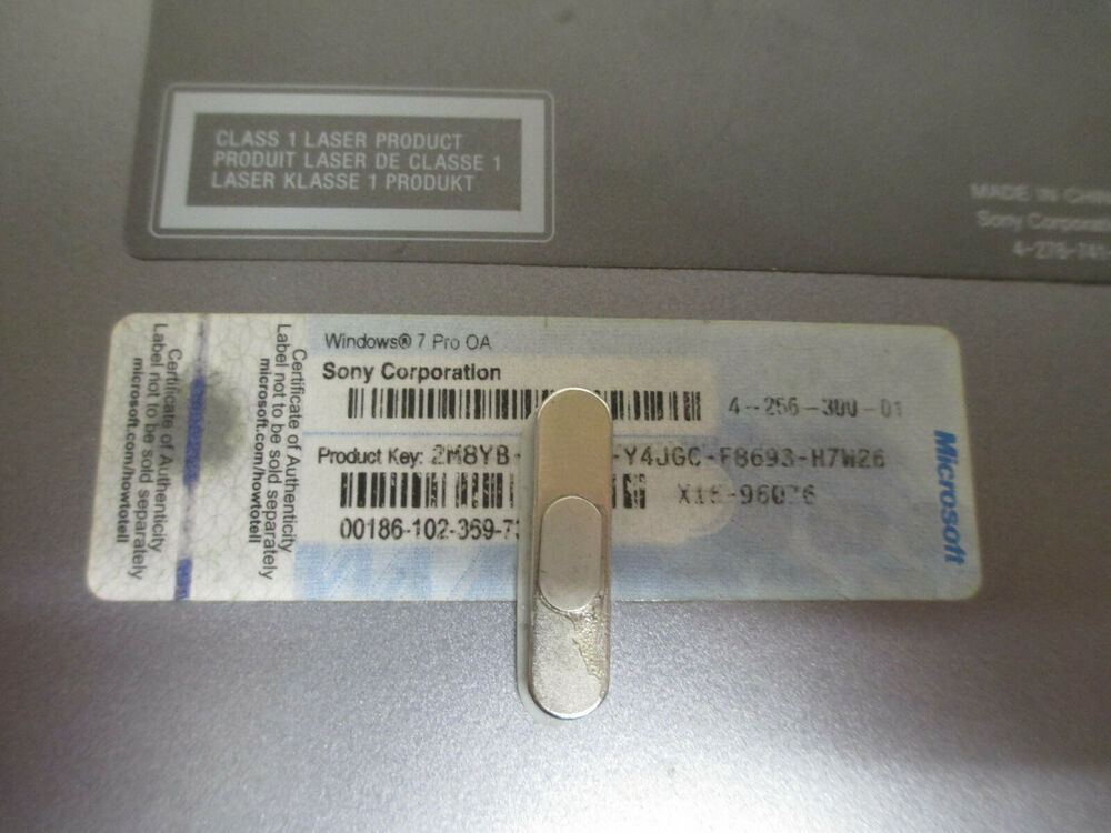 Acer Laptop Part (Broken) With Windows 7 Home Premium COA Licence Sticker | eBay