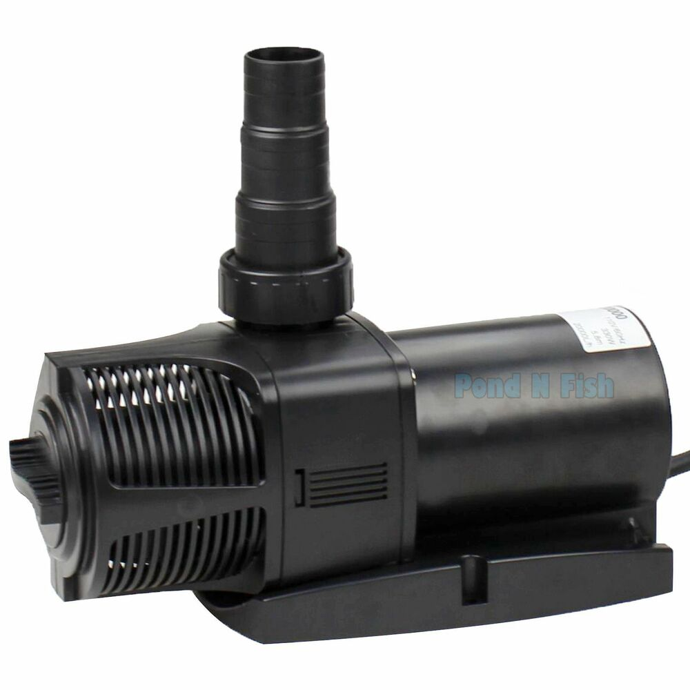 5300 gph water pump pond aquarium fish submersible for Garden pond pump filters