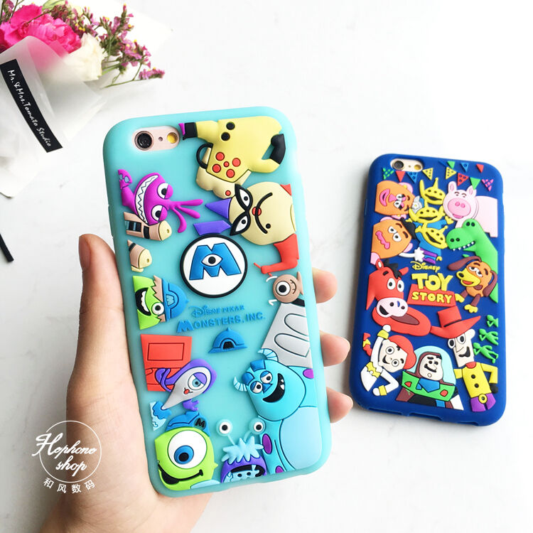 Monster University Toy Story Silicone Colorful Couple Case