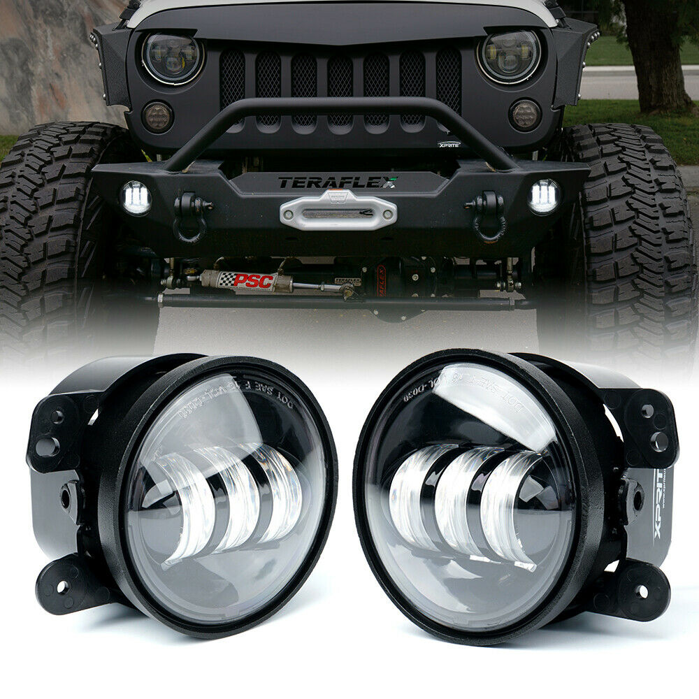 4 Inch 30w Cree Led Round Fog Lights For Offroad Jeep