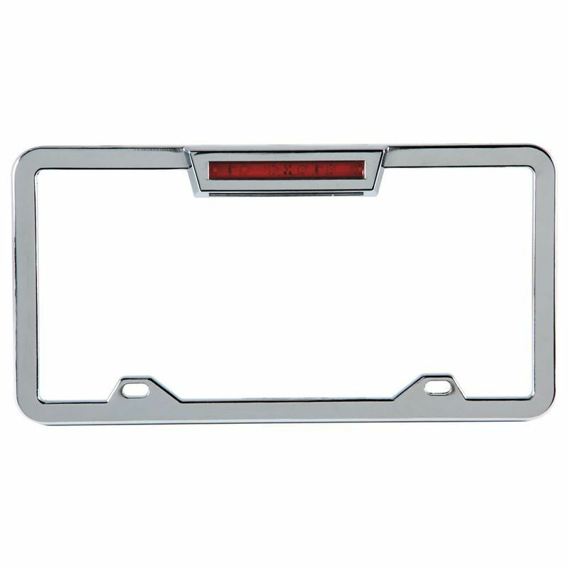Aluminum License Plate Frame >> CHROME ALUMINUM LIGHTED LICENSE PLATE FRAME WITH LED 3RD BRAKE LIGHT THIRD CHEVY | eBay