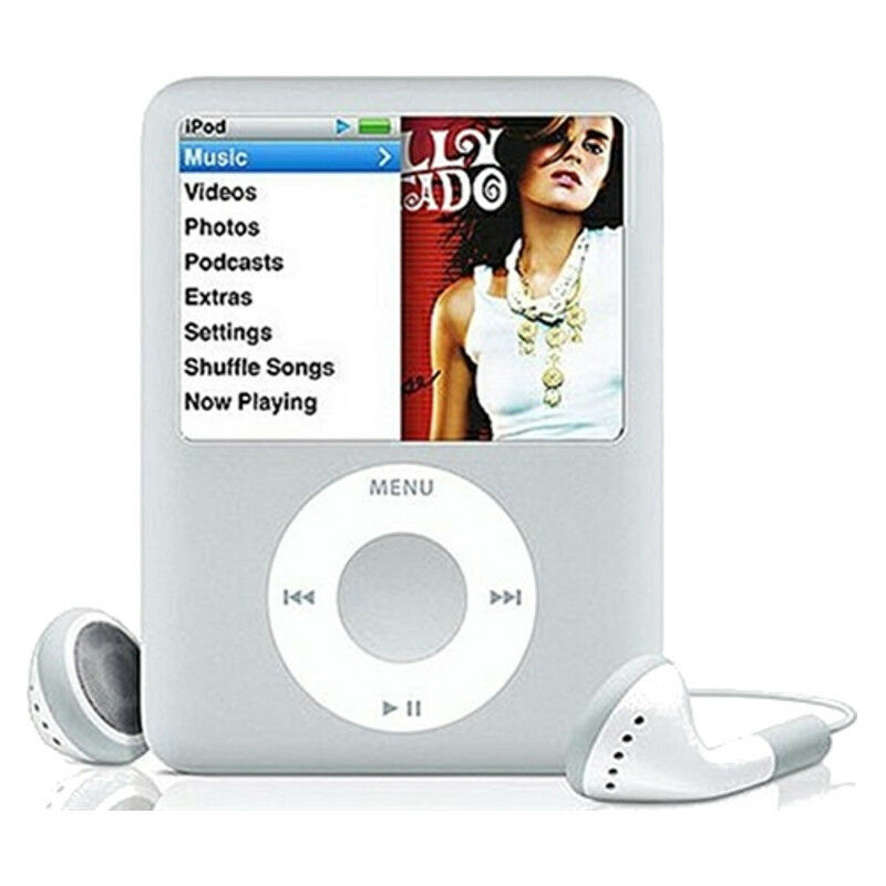 apple ipod nano 3rd generation silver 4gb 885909164660. Black Bedroom Furniture Sets. Home Design Ideas