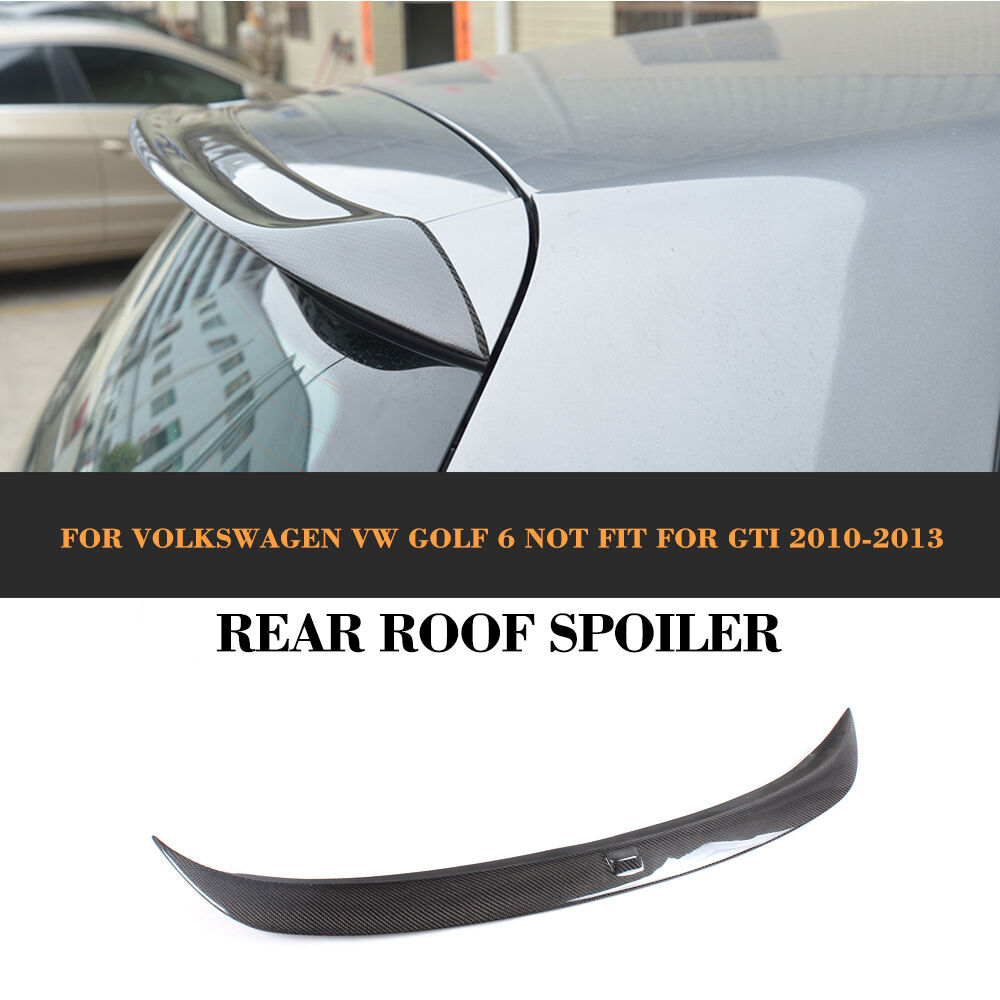 carbon fiber rear roof spoiler wing lip fit for vw golf 6. Black Bedroom Furniture Sets. Home Design Ideas