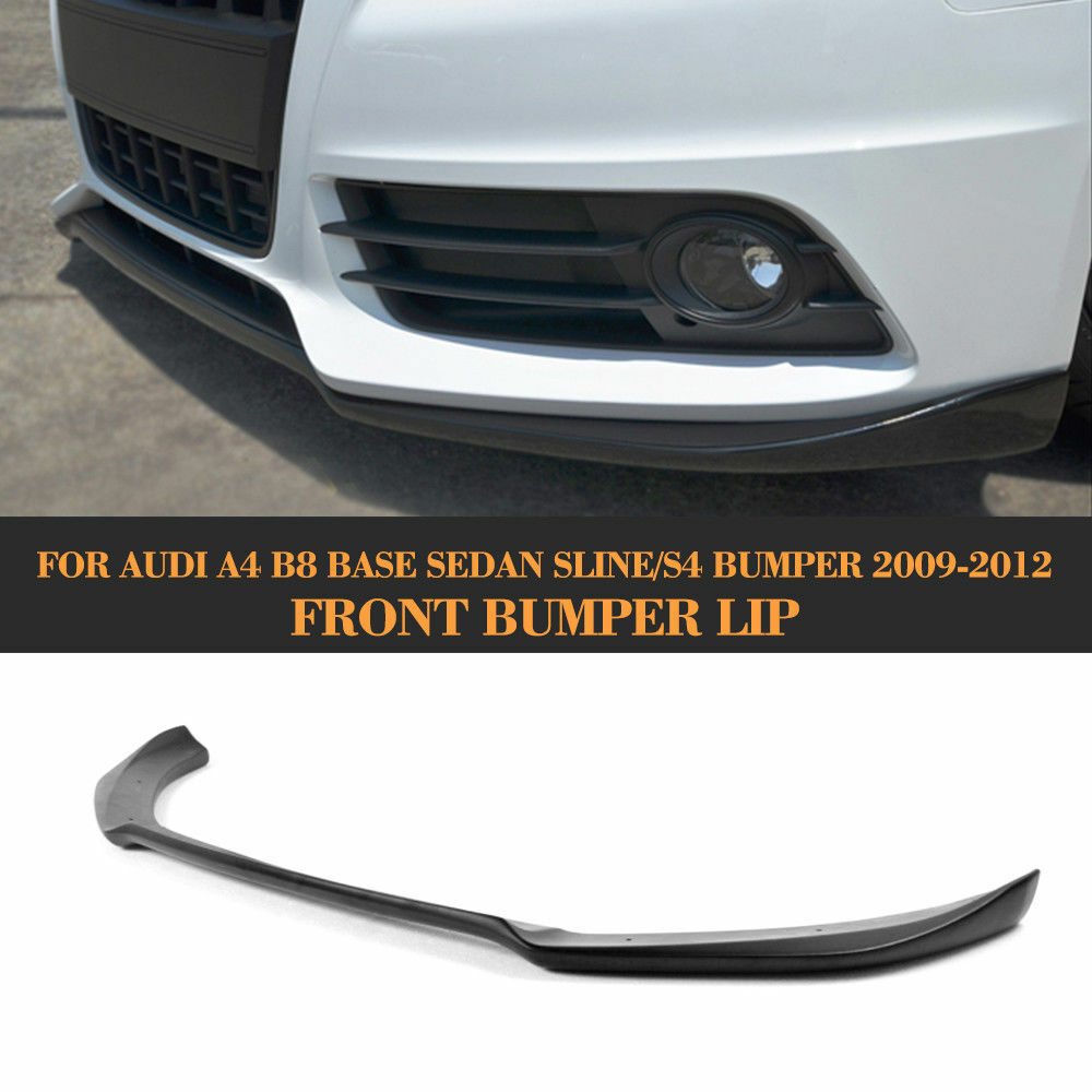 unpainted car front lip chin spoiler fit for audi a4 b8. Black Bedroom Furniture Sets. Home Design Ideas