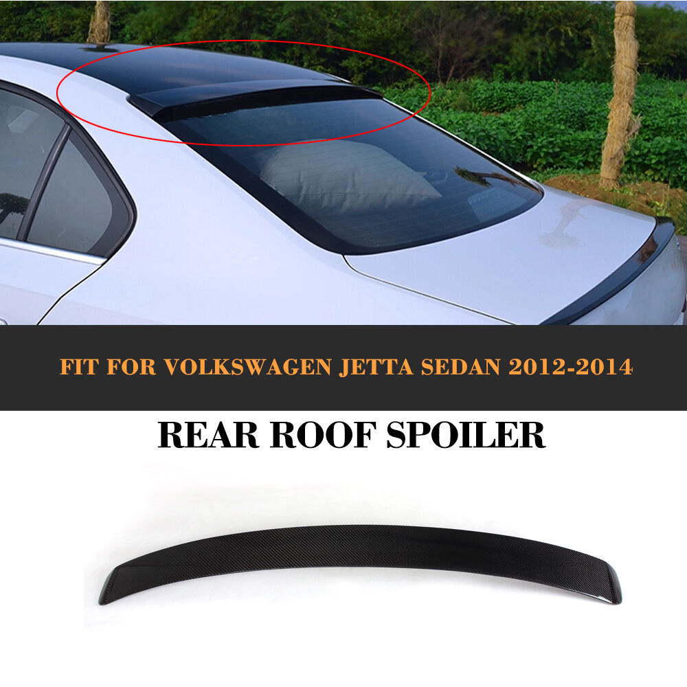 Carbon Fiber Rear Roof Spoiler Wing Fit For VW Jetta 6 VI ...