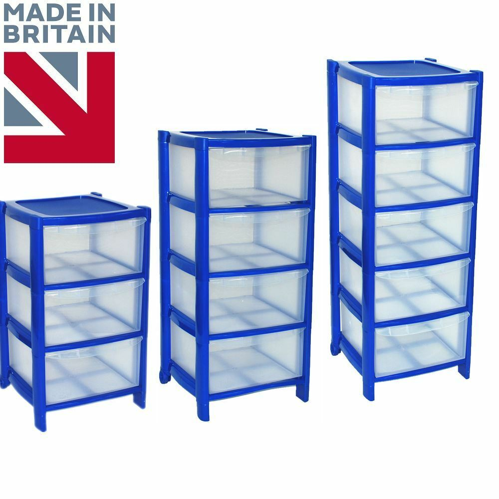plastic storage drawers on wheels blue drawer plastic large tower storage chest unit 24799