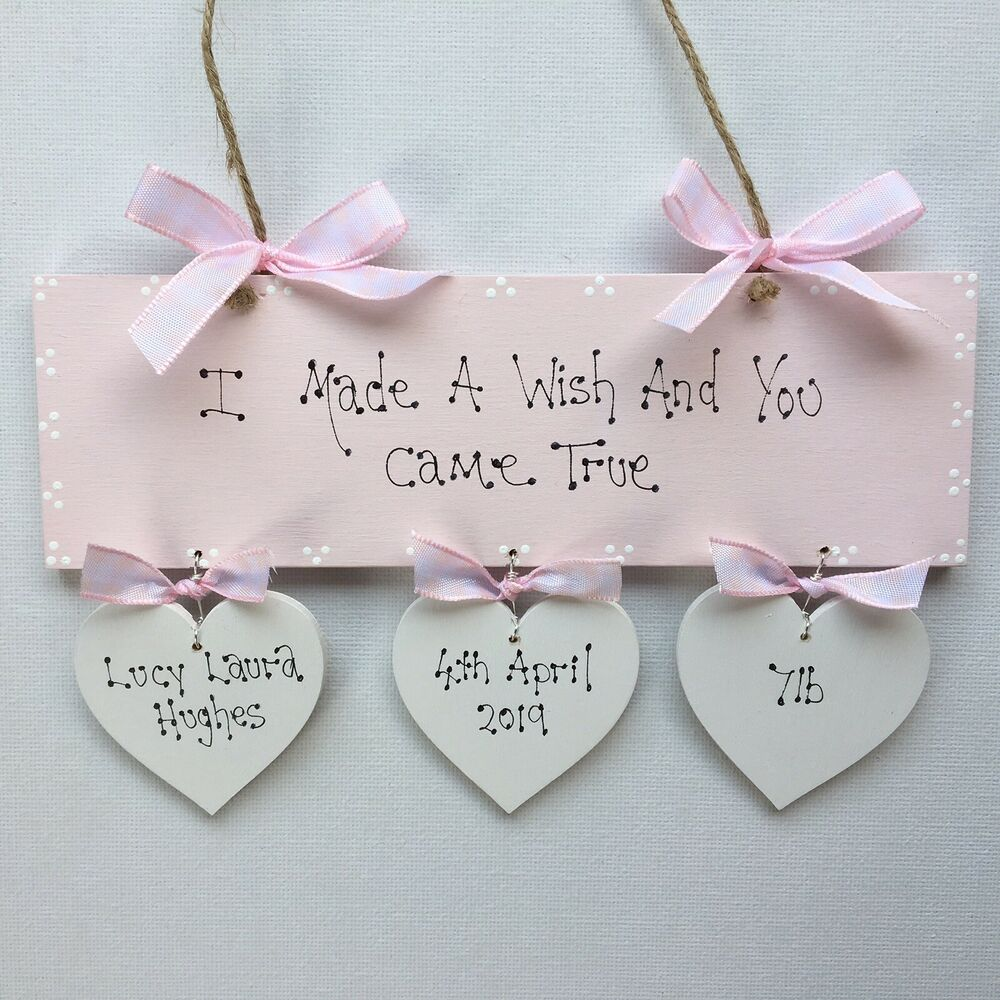 New Baby Girl Gift Ideas Uk : Personalised newborn baby girl christening baptism naming