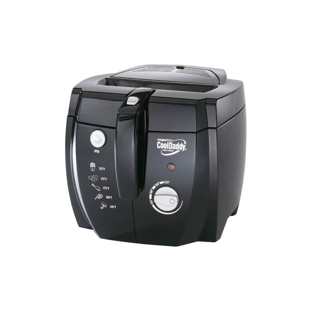 Electric Deep Fryer ~ Presto professional cooldaddy electric deep fryer