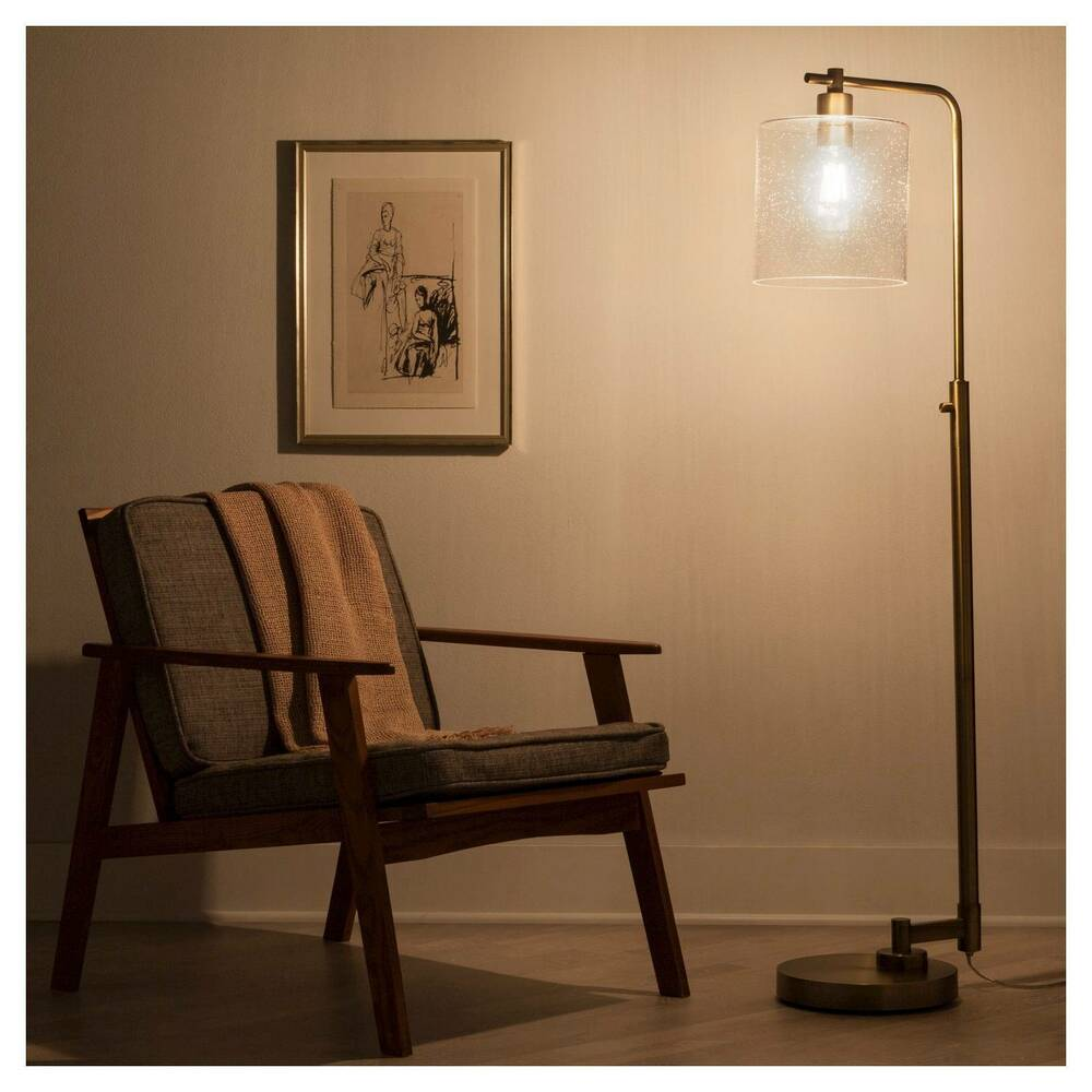 Hudson Industrial Floor Lamp - Brass - Threshold
