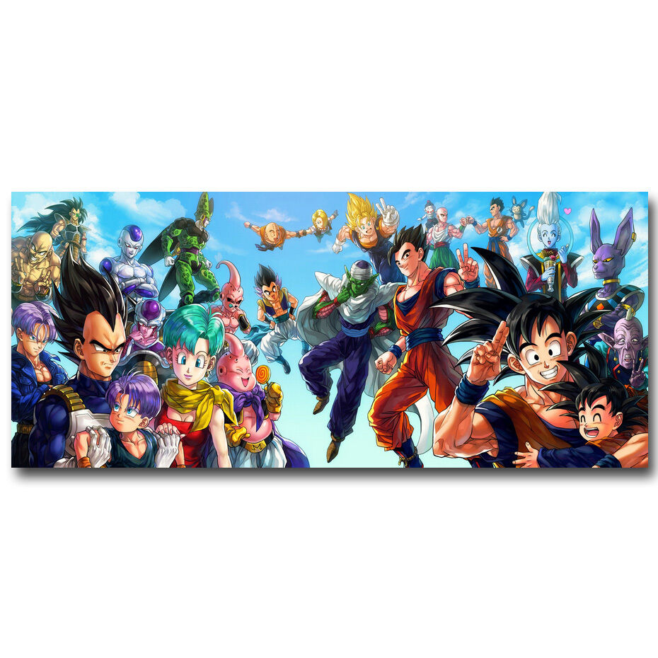 Goku dragon ball z anime new art silk wall poster 13x30 for Decoration murale dragon ball