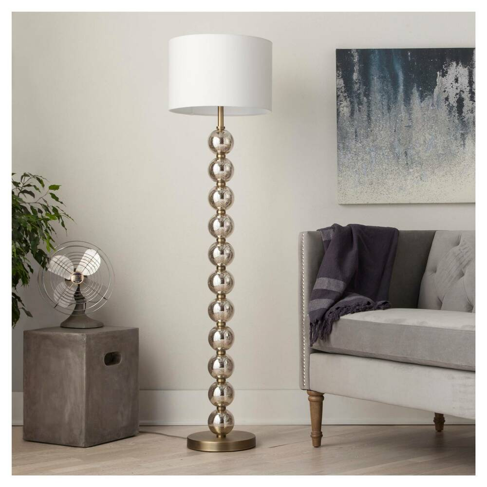 Stacked Ball Floor Lamp Mercury Glass Threshold Ebay