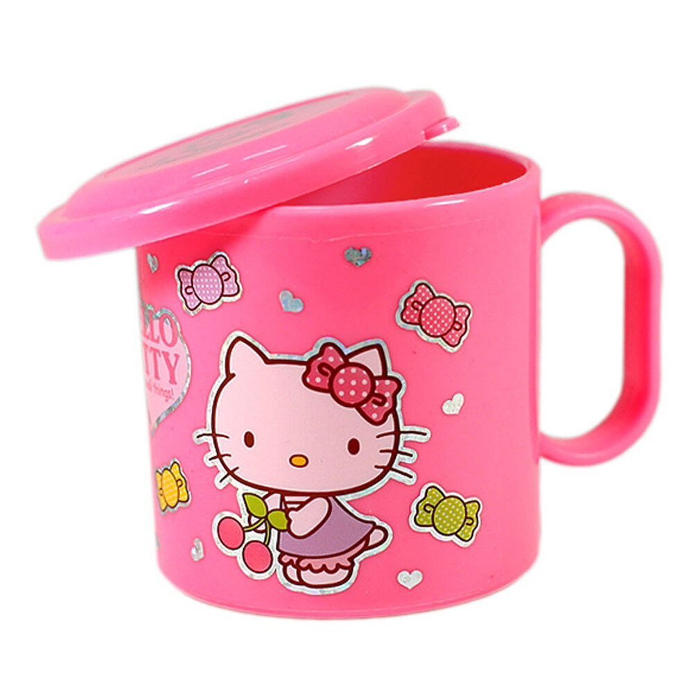Hello kitty handle lidded cup pink color lid mug cup kids - Cups and kids ...