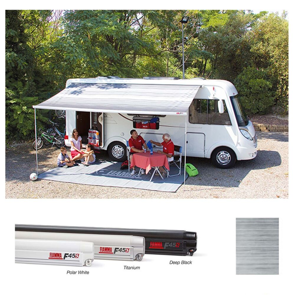 Fiamma F45s 3.5m ROYAL GREY Wind Out Motorhome Awning