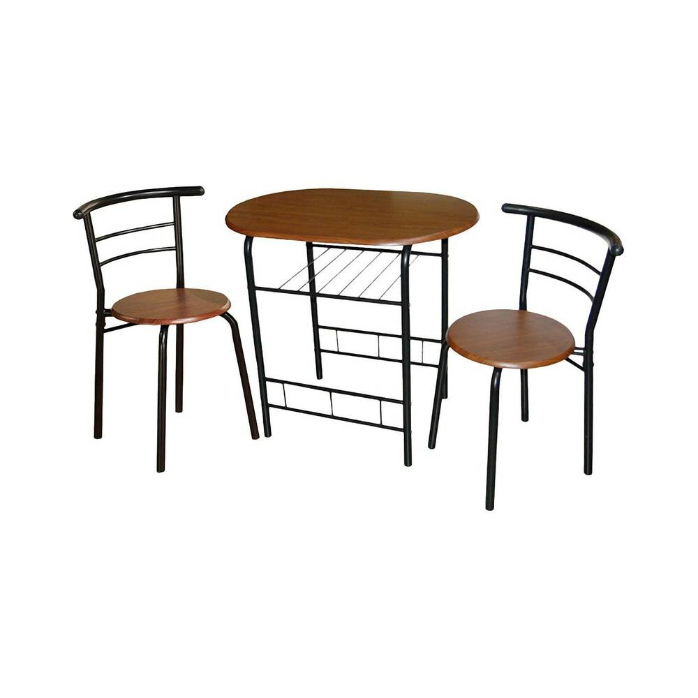 3 piece bistro set metal espresso tms ebay. Black Bedroom Furniture Sets. Home Design Ideas