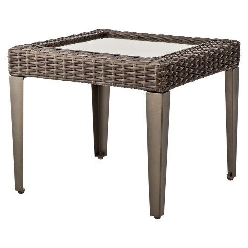 Wicker Coffee Table Target: Belvedere Wicker Patio Accent Table - Threshold