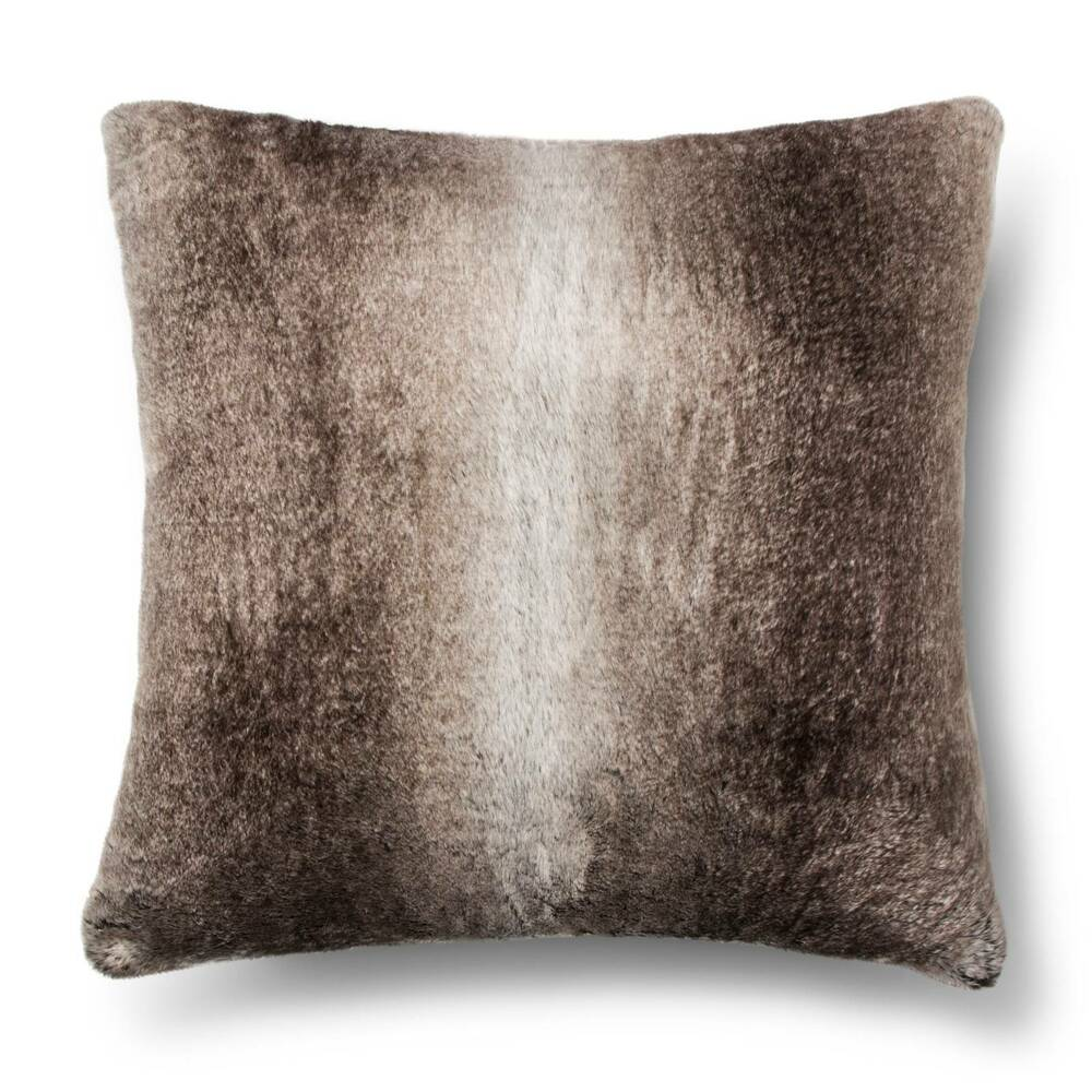 Faux Fur Euro Pillow Brown Fieldcrest Ebay