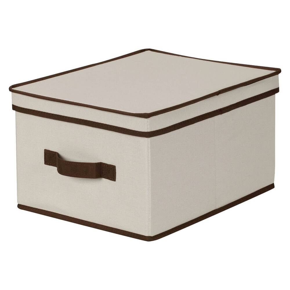 Decorative Boxes Storage: Household Essentials® Large Canvas Decorative Storage Box