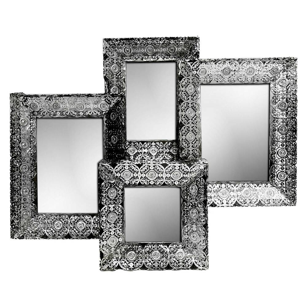 Concepts in time decorative wall mirror silver ebay for Decorative wall mirrors
