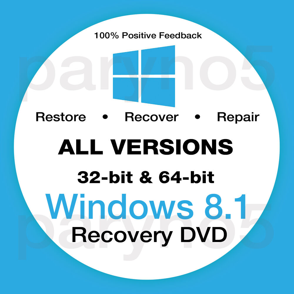 WINDOWS 8.1 HOME 64 Bit Recovery Install Reinstall Boot