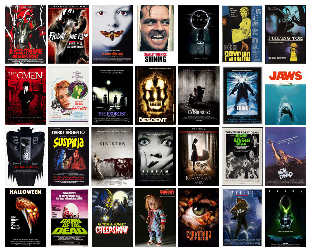 Horror Movie POSTER OPTIONS A3 A4 WALL ART Collection 1 ...