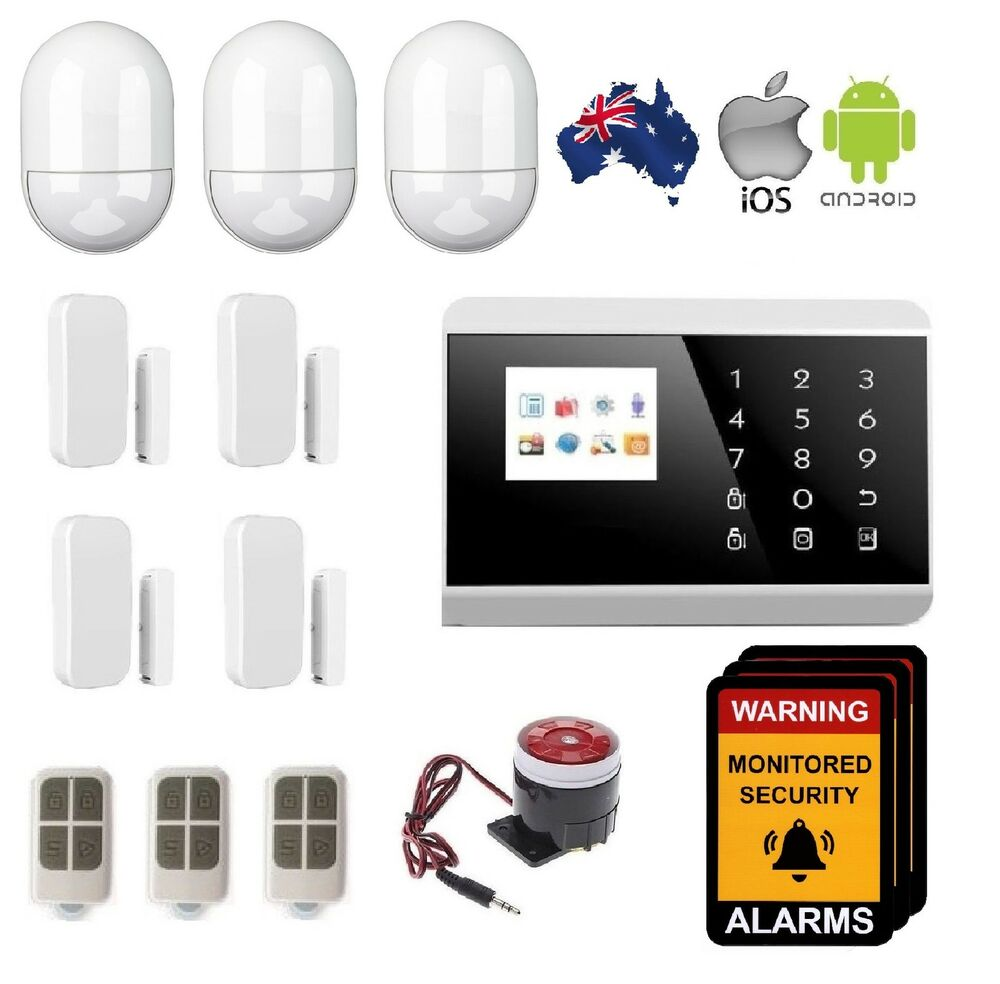 wireless home security diy burgular alarm system andriod