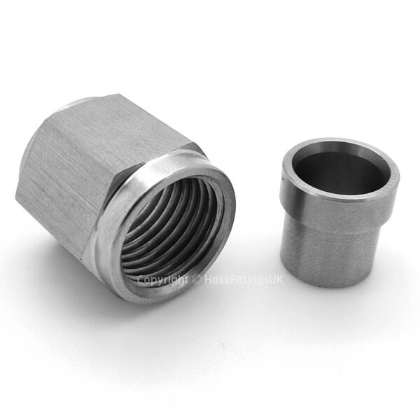An unf stainless steel tube nut sleeve